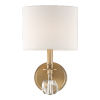 This item: Chimes Vibrant Gold One-Light Wall Sconce