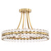 This item: Clover Four-Light Aged Brass Ceiling Mount