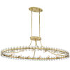 This item: Clover Aged Brass 45-Inch 12-Light Chandelier