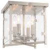 This item: Danbury Four-Light Brushed Nickel Ceiling Mount