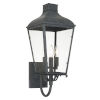 This item: Dumont Graphite Three-Light Outdoor Wall Mount