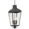 This item: Dumont Graphite Three-Light Outdoor Pendant