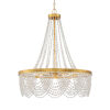 This item: Fiona Antique Gold 33-Inch Four-Light Chandelier