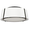 This item: Fulton Matte Black Three-Light Flush Mount