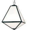This item: Glacier Three-Light Black Charcoal Outdoor Chandelier