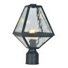 This item: Glacier One-Light Black Charcoal Outdoor Lantern Post