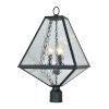 This item: Glacier Three-Light Black Charcoal Outdoor Lantern Post