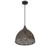 This item: Jasmine Forged Bronze 14-Inch One-Light Pendant