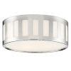 This item: Kendal Polished Nickel Three-Light Flush Mount