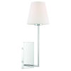 This item: Lena Polished Chrome Six-Inch One-Light Wall Sconce