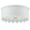 This item: Nina Matte White 14-Inch Three-Light Flush Mount