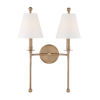 This item: Riverdale Aged Brass 15-Inch Two-Light Wall Sconce