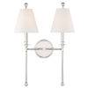 This item: Riverdale Polished Nickel 15-Inch Two-Light Wall Sconce