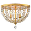 This item: Roxy Antique Gold 17-Inch Three-Light Flush Mount