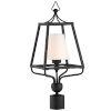 This item: Sylvan One-Light Black Forged Outdoor Lantern Post