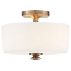 This item: Travis Vibrant Gold 13-Inch Two-Light Semi Flushmount