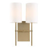 This item: Veronica Two-Light Aged Brass Wall Sconce