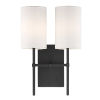 This item: Veronica Black Forged Two-Light Wall Sconce