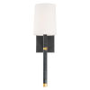 This item: Weston Black and Antique Gold Six-Inch One-Light Wall Sconce