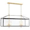This item: Weston Black and Antique Gold 44-Inch Eight-Light Pendant