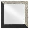 This item: Calum Antique Nickel and Matte Black Square Mirror
