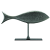 This item: Wesley Graphite Black 27-Inch Fish Sculpture