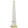 This item: Pharaoh White and Brushed Brass Small Obelisk