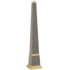 This item: Pharaoh Taupe and Brushed Brass Large Obelisk