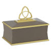 This item: Trinity Taupe and Brushed Brass Small Box