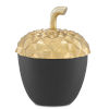 This item: Oaknut Shiny Gold and Matte Black Small Jar