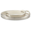 This item: Riya White and Silver Tray, Set of 2