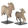 This item: Nandi Natural and Black Cow Figurine, Set of 2