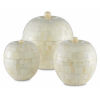This item: Mughal Natural and White Round Box, Set of 3