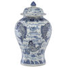 This item: Ming Blue and White Temple Jar