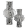 This item: Stormy Black and White Glass Vase, Set of 2