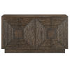 This item: Morombe Distressed Cocoa Cabinet