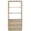 This item: Bali Light Wheat and Brushed Brass Storage Etagere