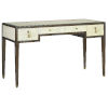 This item: Evie Ivory and Dark Walnut Desk