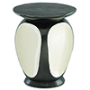 This item: Malmo Graphite and Ivory Drum Table