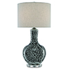 This item: Sheng Black and Polished Nickel One-Light Table Lamp