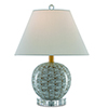 This item: Fisch Gray White and Antique Nickel One-Light Table Lamp