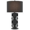 This item: Tentecolo Terracotta and Satin Black One-Light Table Lamp