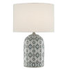 This item: Aubri Blue Green and Gray One-Light Table Lamp