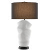 This item: Zucchero Gesso White and Matte Black One-Light Table Lamp