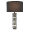 This item: Primitivo Cement Gray and Black One-Light Table Lamp