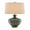 This item: Greenlea Dark Gray and Moss Green One-Light Table Lamp