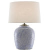 This item: Santorini Blue Stone and Antique Nickel One-Light Table Lamp