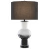 This item: Duende White and Glossy Black One-Light Table Lamp