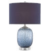 This item: Ionian Ocean Blue and Polished Nickel One-Light Table Lamp
