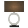 This item: Kirkos Gesso White and Glossy Black One-Light Table Lamp